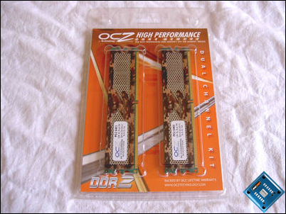 OCZ PC2-6400 Special Ops Packaging