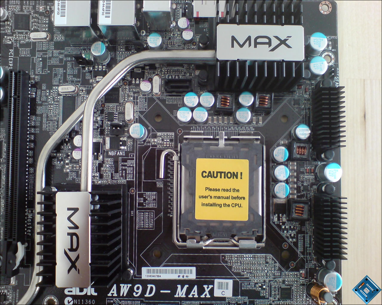 Abit AW9D Max socket 775 Motherboard | The Board - Layout