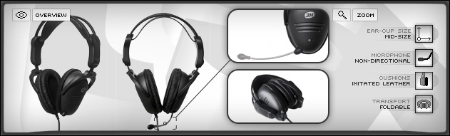 SS3H headset