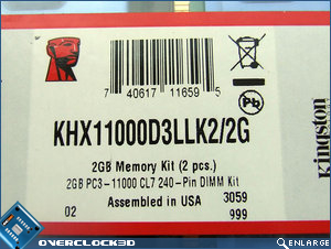 Kingston HyperX PC3-11000 Label
