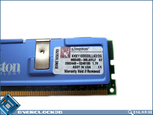 Kingston HyperX PC3-11000 Specs