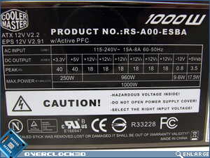 Coolermaster Real Power Pro M1000 Specs