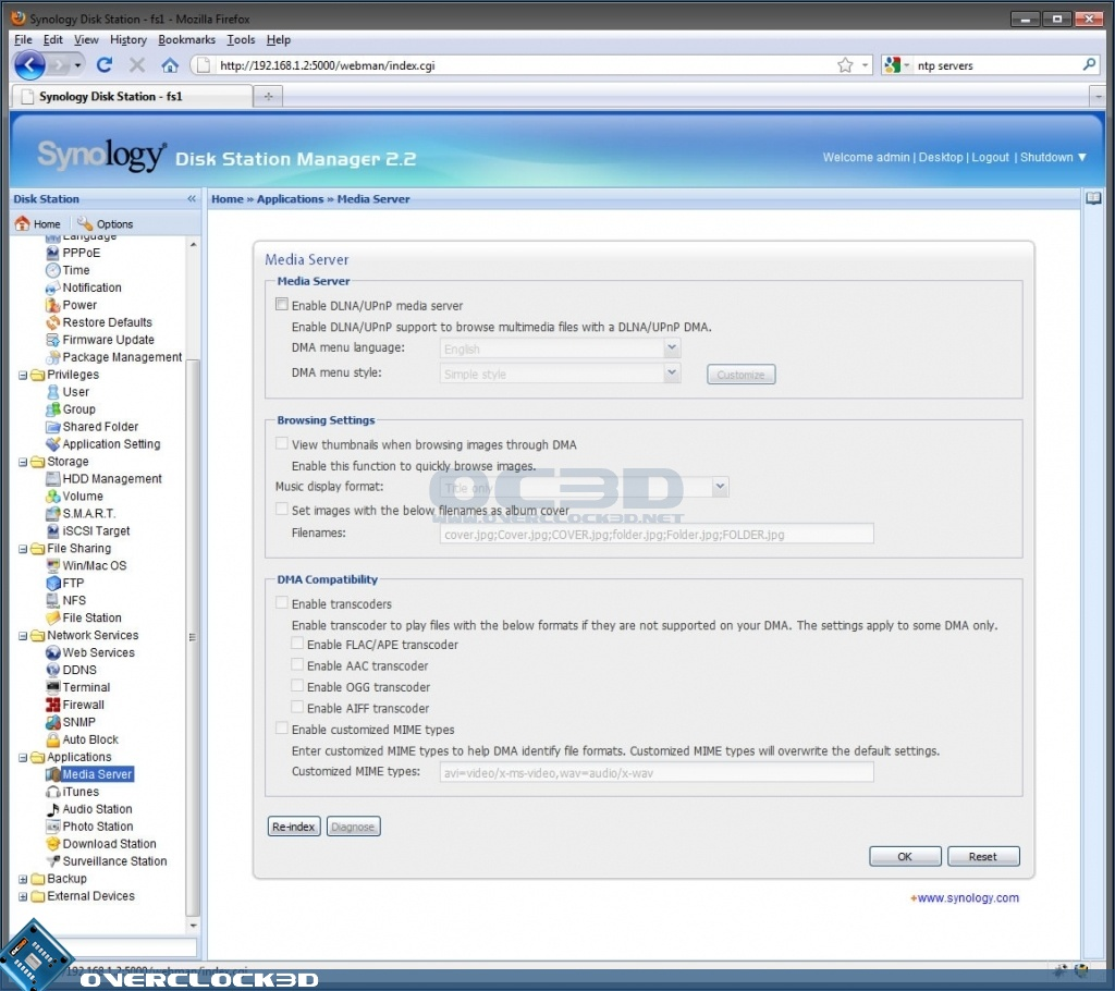 Synology DS710+ 2-bay All-in-1 NAS Server   Software