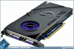 The GeForce GTS 450 from Sparkle is a really slim package