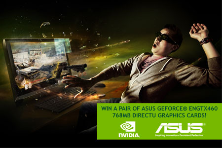 Win a pair of GTX460 GPU's with ASUS & OC3D