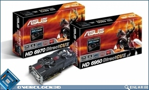 ASUS DirectCU II HD 6970 and HD 6950 cards