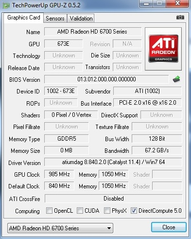 AMD HD6790 Overclocking Review