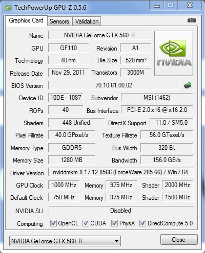 MSI GTX560Ti 448 - Overclock Part 2