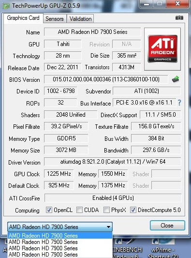 ASUS HD7970 Quadfire Madness