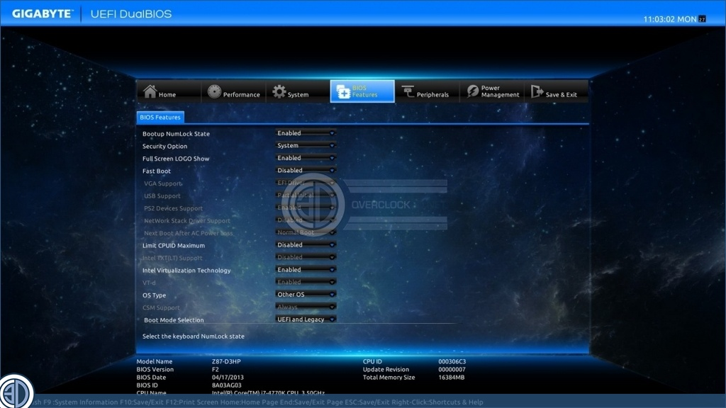 Gigabyte Z87-D3HP Review | BIOS - Other stuff | CPU