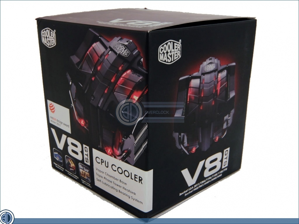 cooler master v8 gts review up close packing and contents cases cooling oc3d review. Black Bedroom Furniture Sets. Home Design Ideas