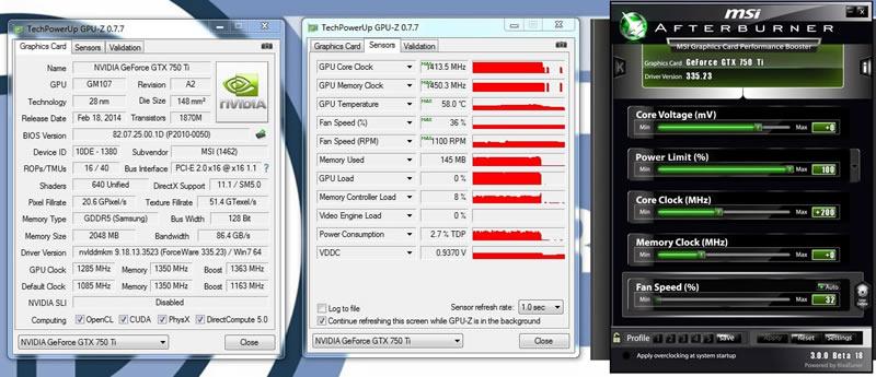 MSI GTX750Ti Gaming Review | Overclocking Results | GPU