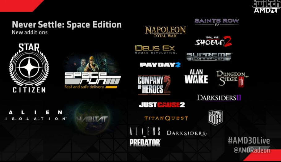 AMD Announce Never Settle: Space Edition