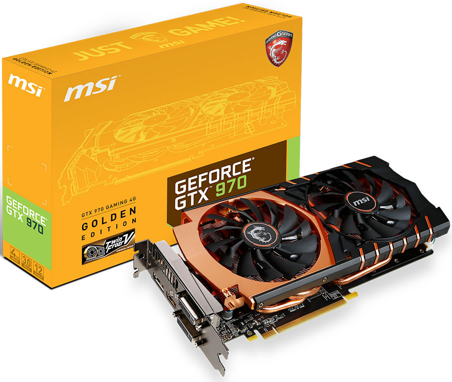 MSI Launches GTX 970 Golden Edition
