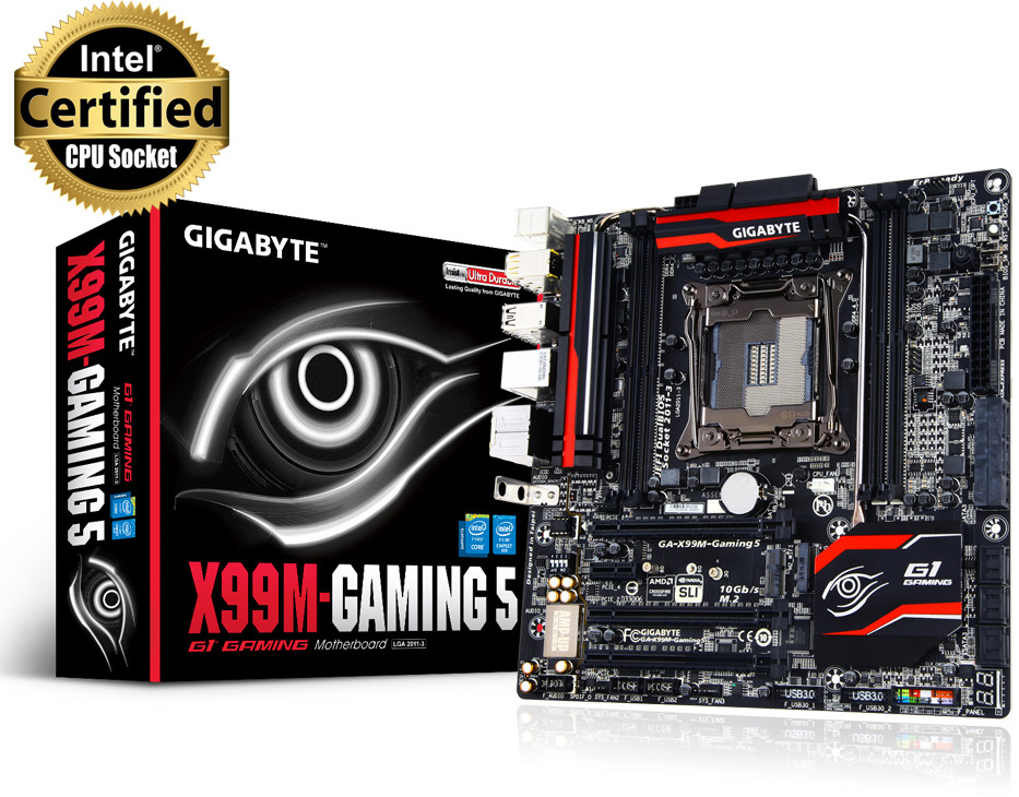 GIGABYTE Announces X99M-Gaming 5 Micro-ATX Motherboard