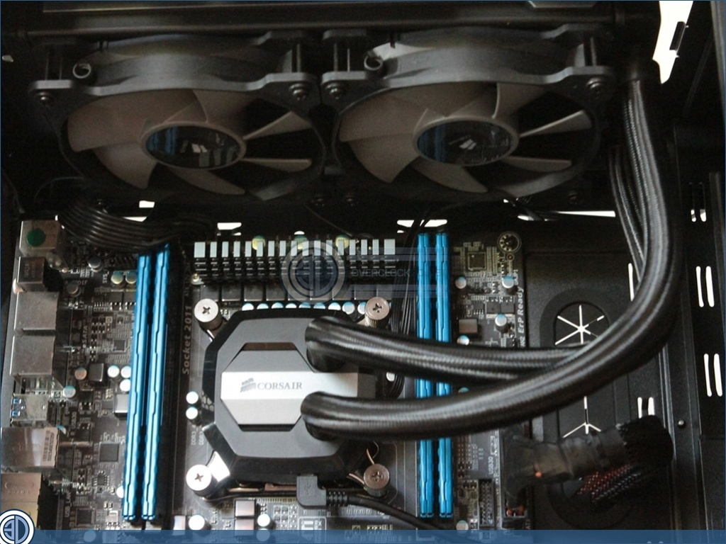 Corsair H100i GTX Review | Assembled System | Cases
