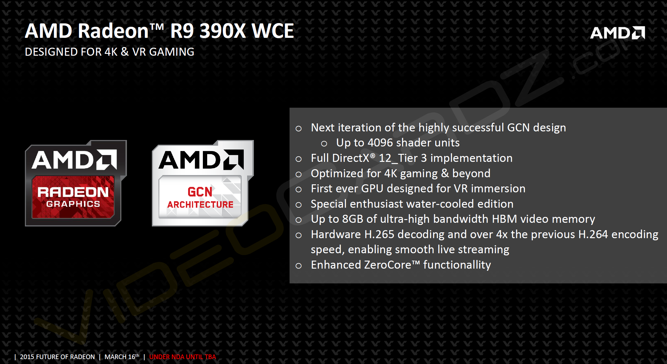 AMD R9 390X WCE, an 8GB GPU with 4096 shaders!