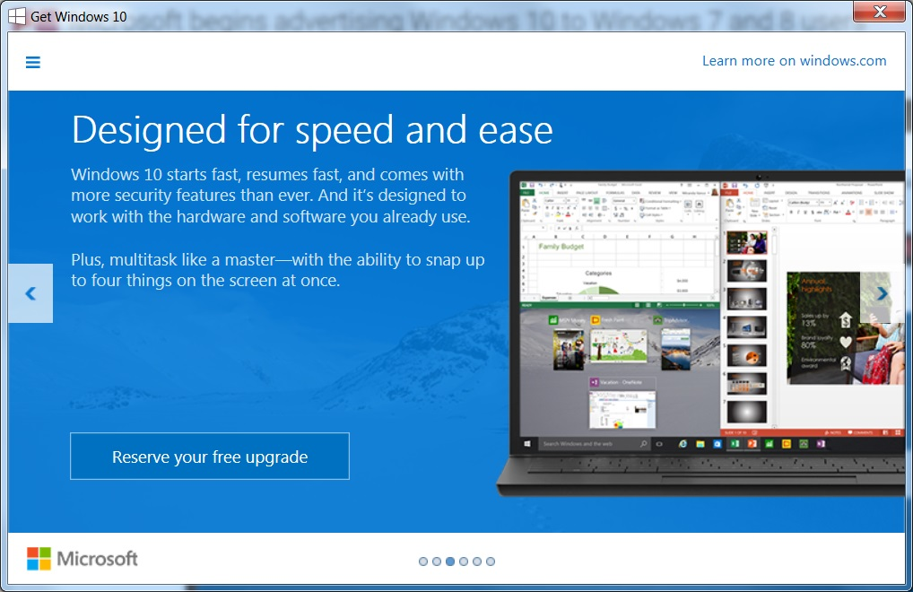 Microsoft Starts Advertising Windows 10 to Windows 7 and 8.1 Users