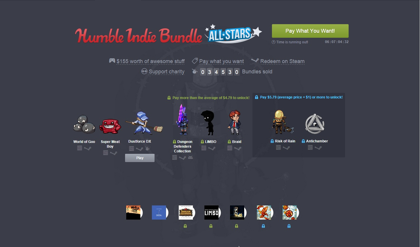 The Humble Indie Bundle All-Stars Collection is now live