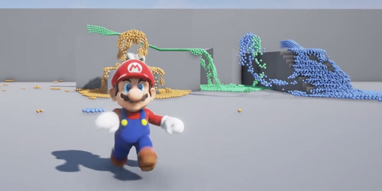 Super Mario Nvidia Flex Demo in Unreal Engine 4 | OC3D News