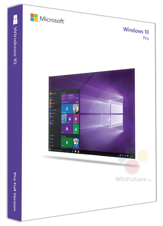 Windows 10 box art Appears Online