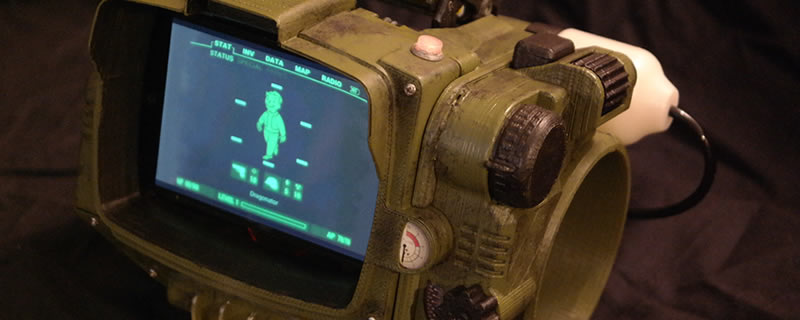The Pip-Boy may be Sold out, but you can 3D Print your own.