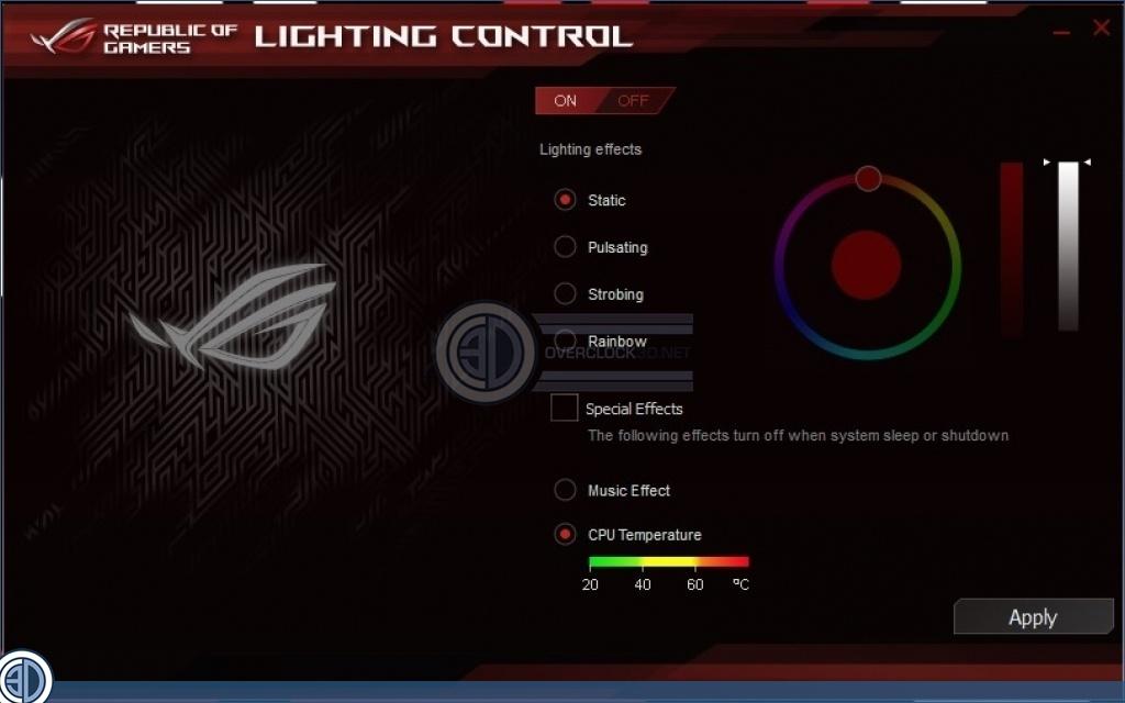 ASUS ROG Z170 Maximus VIII Hero Review | Software & Lighting | CPU