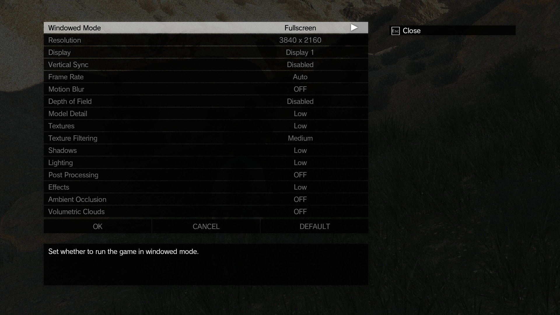 Metal Gear Solid V PC Settings Comparison