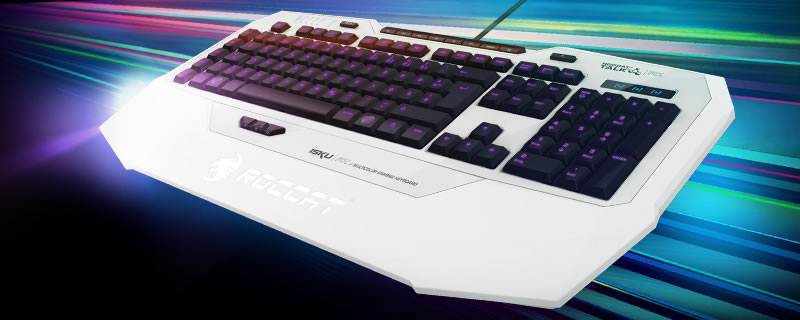 ROCCAT ISKU FX White Gaming Keyboard - RushKit