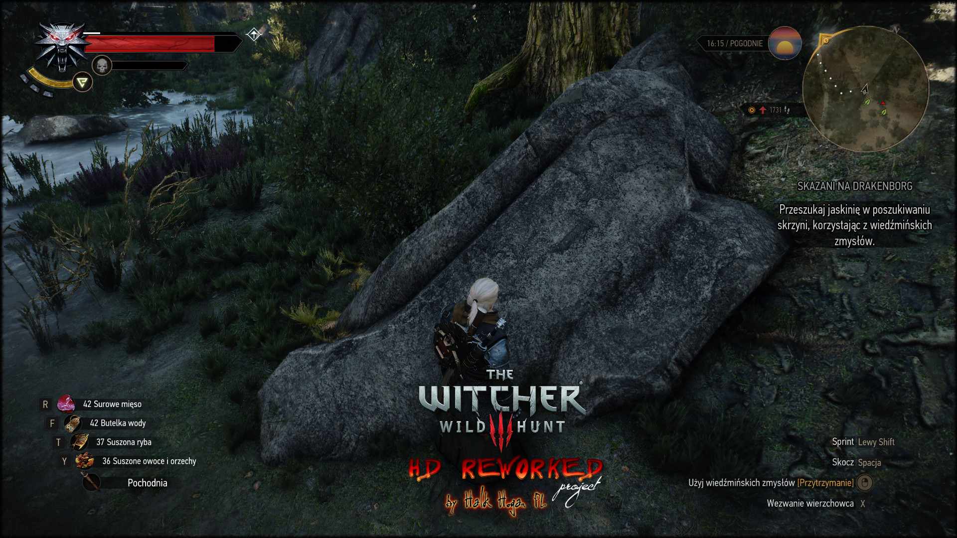 The Witcher 3: Wild Hunt High Res Texture mod and Draw