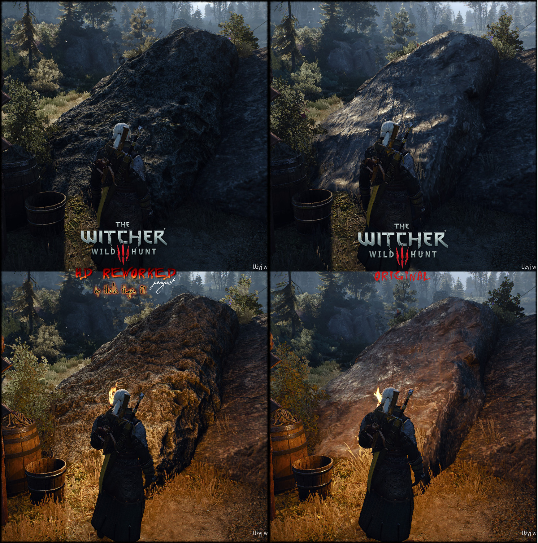The Witcher 3: Wild Hunt High Res Texture mod 2 0 coming