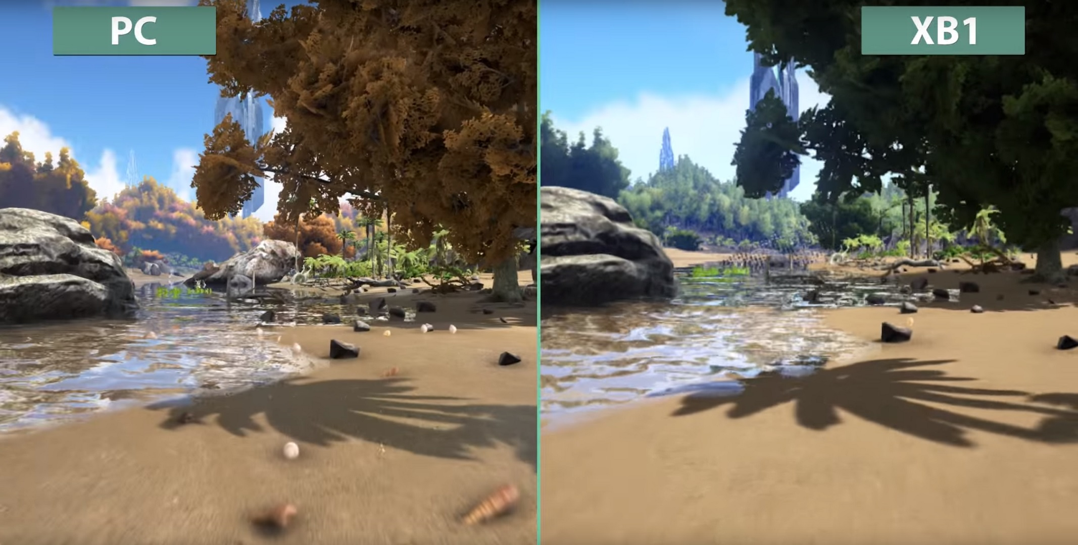 ark survival evolved pc vs xbox one graphics