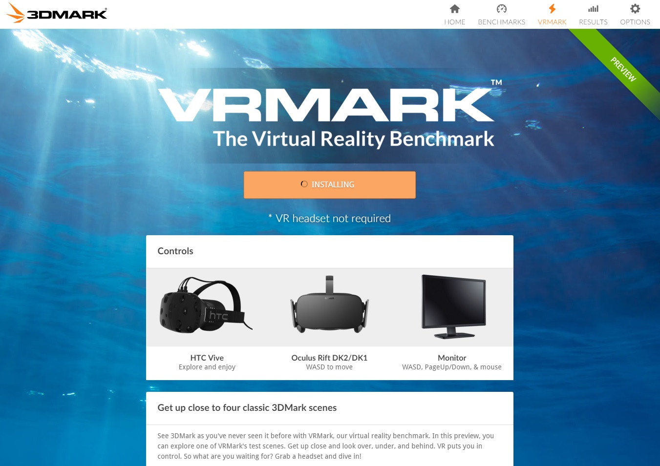 3DMARK Holiday Beta - New UI and VRMARK Preview
