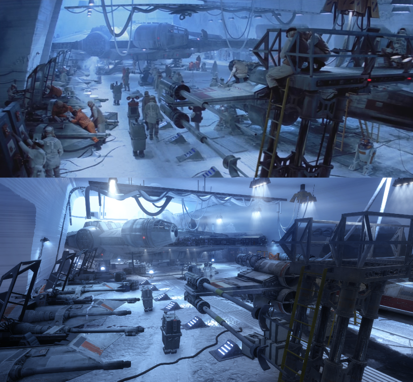 The Visuals of Star Wars Battlefront look surprisingly similar to the films.