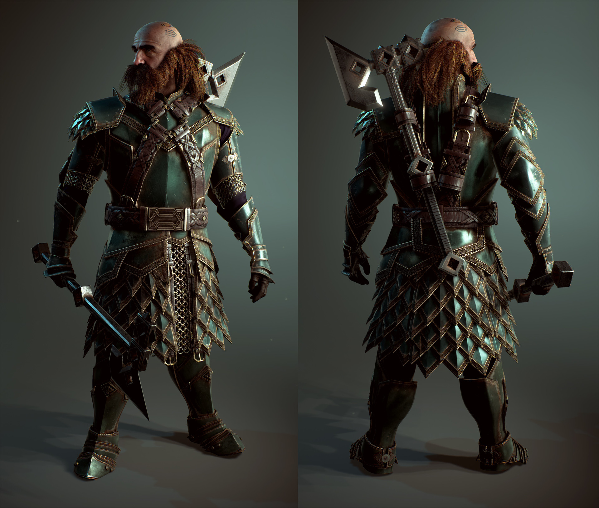 Dwarf Dwalin Realtime Model created in Unreal engine 4 ...