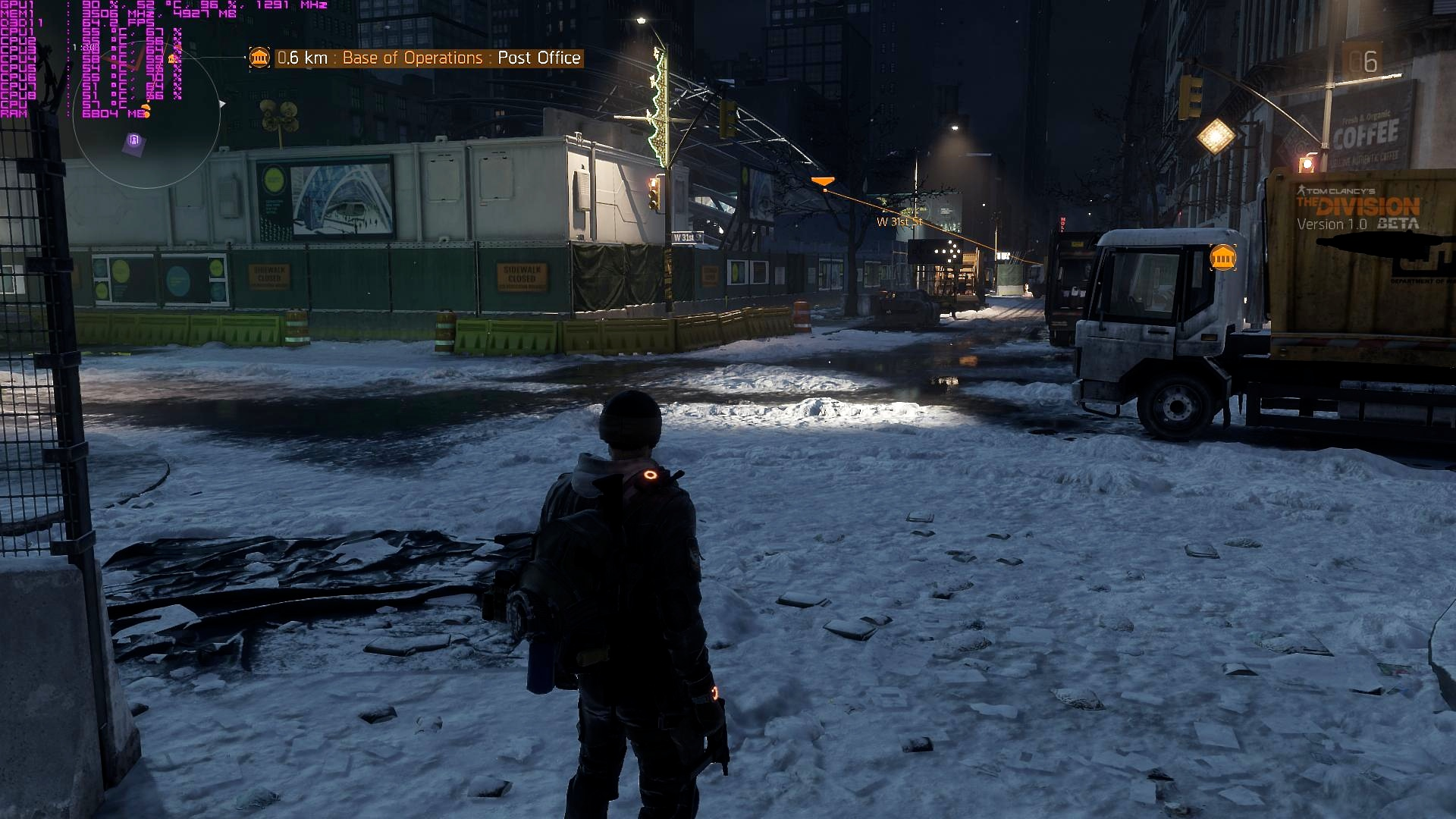 The Division PC Screenshots, Max settings with HBAO+