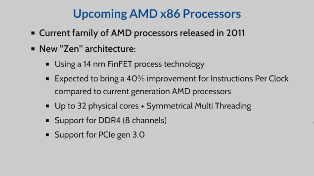 Cern reveals AMD 32-core Zen CPU with 8 channel DDR4 memory