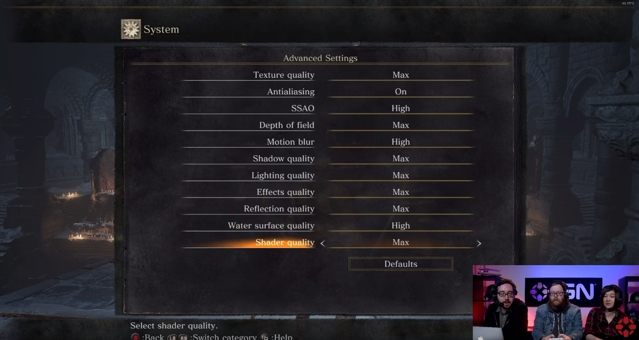 Dark Souls 3 PC Graphical Options Menu has been Revealed
