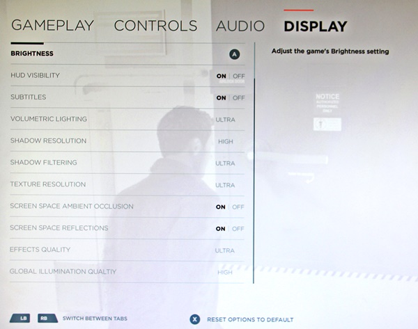 Quantum Break's PC Graphical Options Menu has leaked