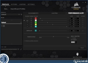 Corsair M65 Pro RGB CUE Software