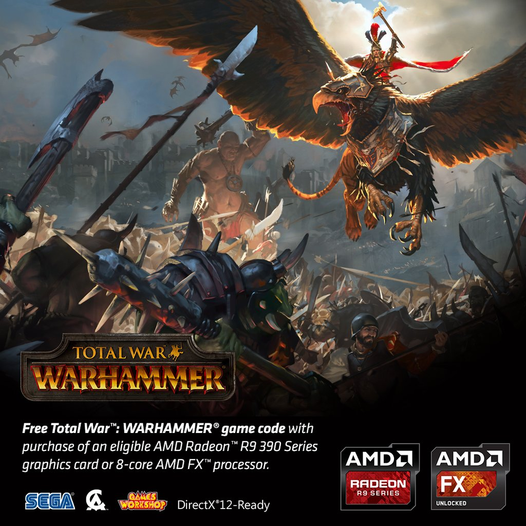 Total War: Warhammer is now FREE with select Radeon R9 390 series GPUs or 8-core FX Processors