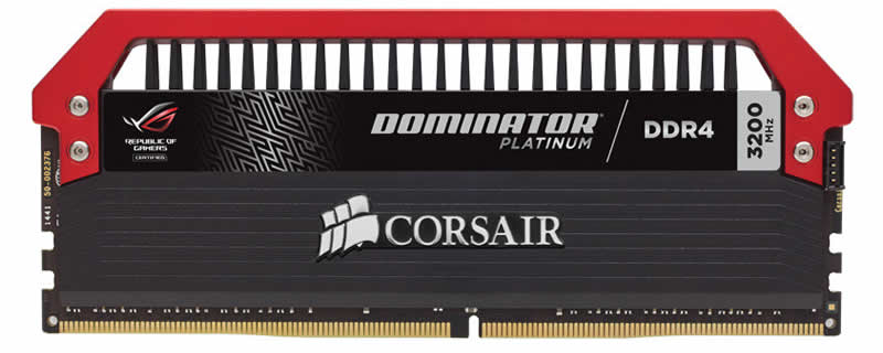 Corsiar announce Dominator Platinum ROG Edition Memory