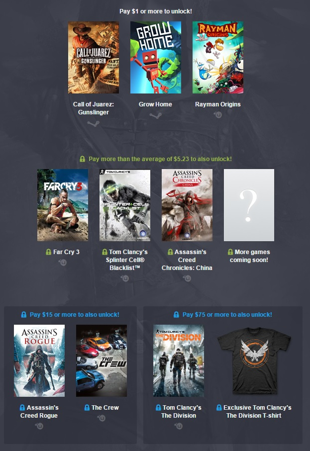 The Humble Ubisoft Bundle is now love