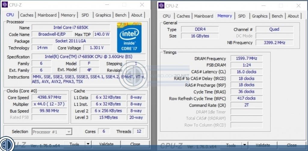 Intel 6950x 6900k 6850k Cpu Review Overclocking Cpu