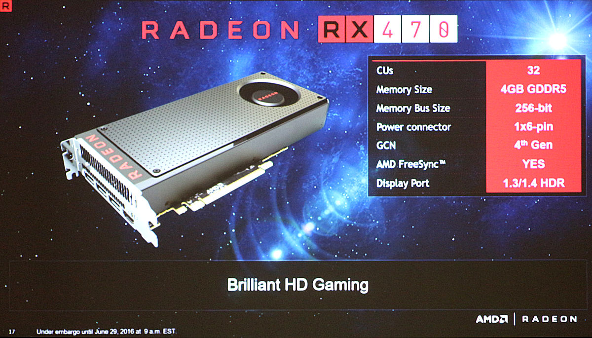 AMD announce RX 470 and RX 460 specifications