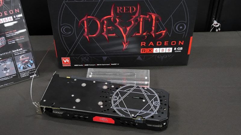 Powercolor's RX 480 Devil pictured and clocked