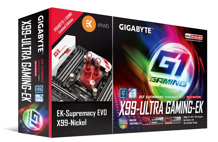 Gigabyte and EK announced X99 and Z170 limited edition motherboard bundles