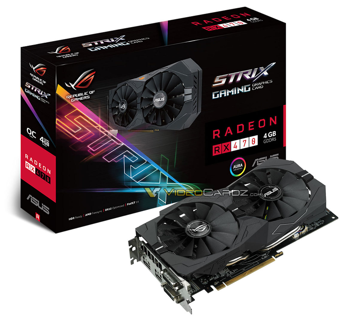 Aftermarket RX 470 and RX 460 GPUs pictured