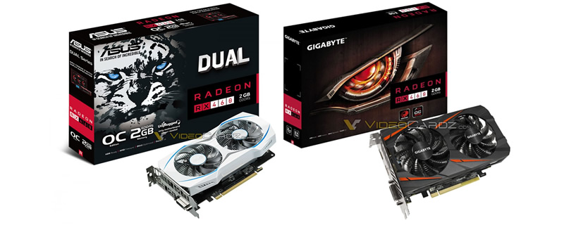 RX 460 Windforce and Dual Pictured