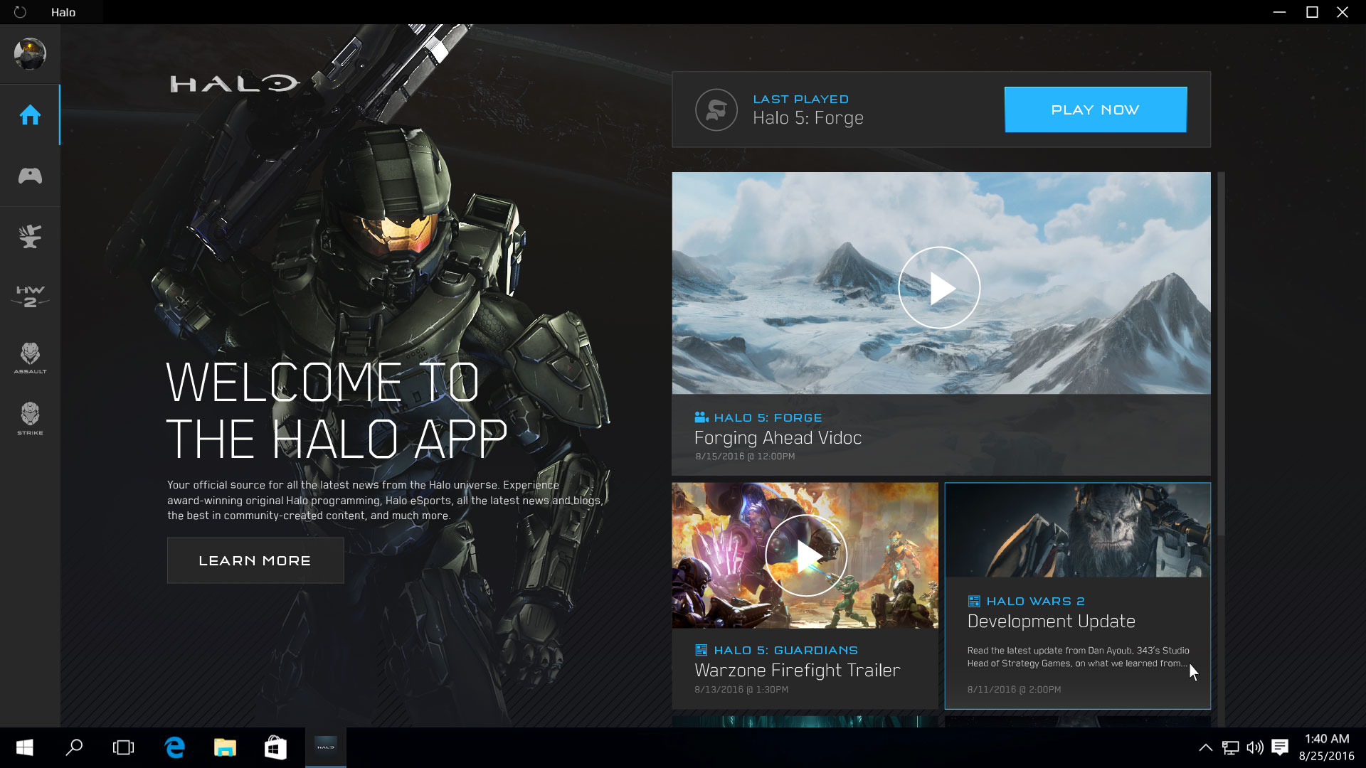 Microsoft will soon release their Halo App for Windows 10 PC